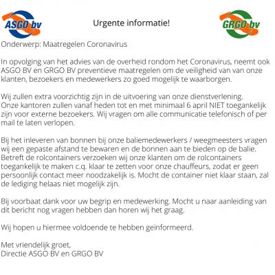 Urgente informatie! (2)
